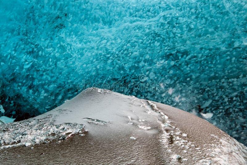 Crystal Ice Cave perto de Jokulsarlon fotografia de stock royalty free