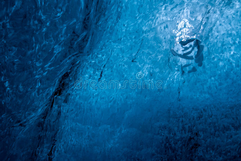 Crystal Ice Cave près de Jokulsarlon images libres de droits