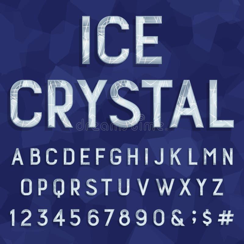 Crystal istypstilsort alfabetelement som scrapbooking vektorn stock illustrationer