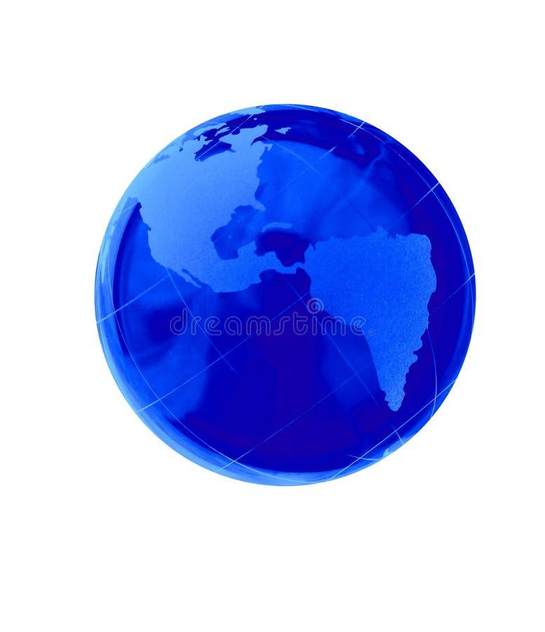 Crystal jordklotillustration för blå jord royaltyfri fotografi