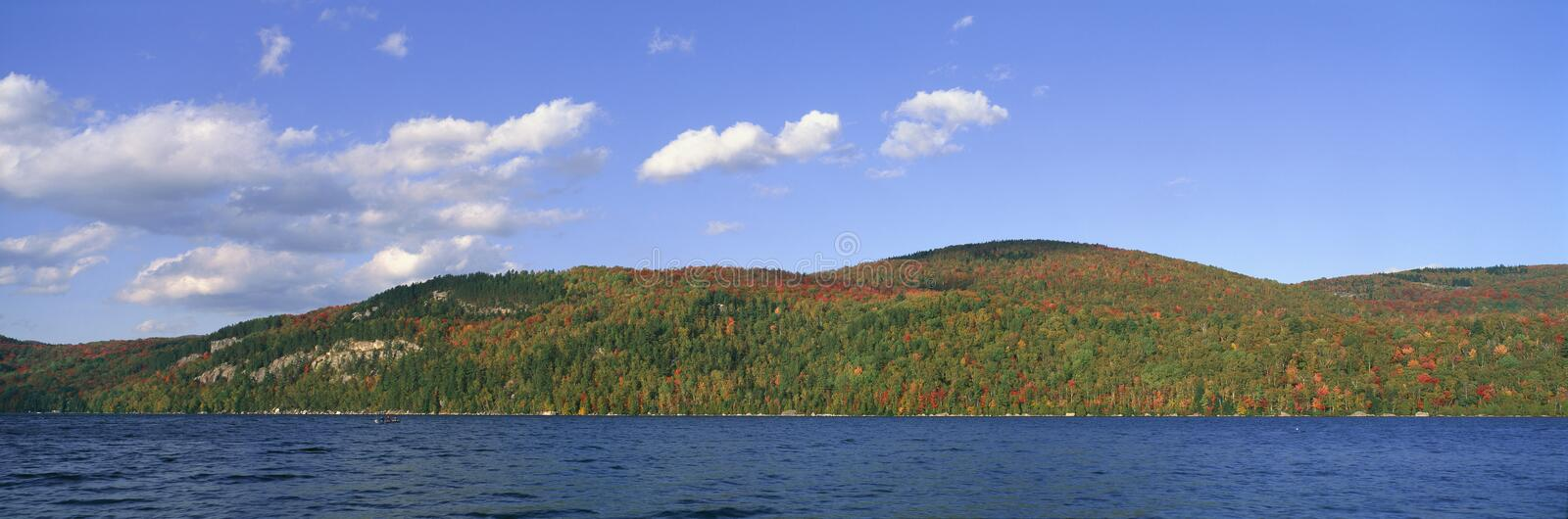 Crystal Lake. In Autumn, Vermont stock images