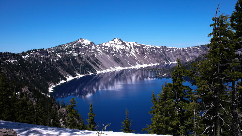 Crystal Lake Park Oregon. Crystal Lake, the worlds bluest lake in Southern Oregon stock images