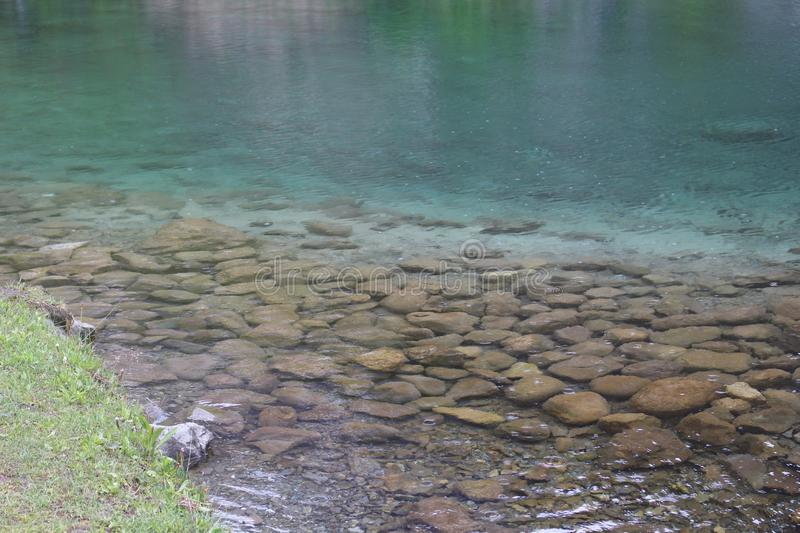 Crystal lake. Is a lake of seven streams and is clear like crystal stock photography