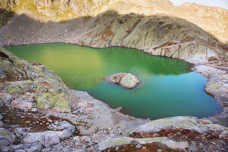 Crystal Lakes Chamonix en las montañas fotos de archivo libres de regalías