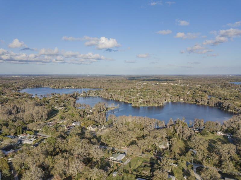 Crystal Lakes vicino a Tampa, Florida fotografia stock libera da diritti
