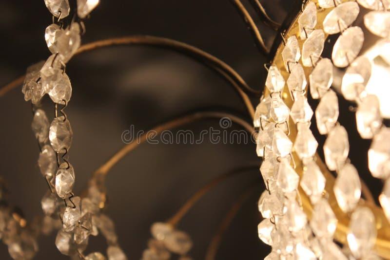 Crystal lamp close up. Shine stock photos