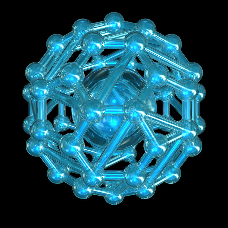 Crystal lattice. 3d render image with crystal lattice on white royalty free illustration