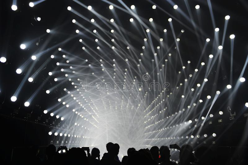 Crystal of light in teamlab χωρίς σύνορα Σαγκάη στοκ εικόνα