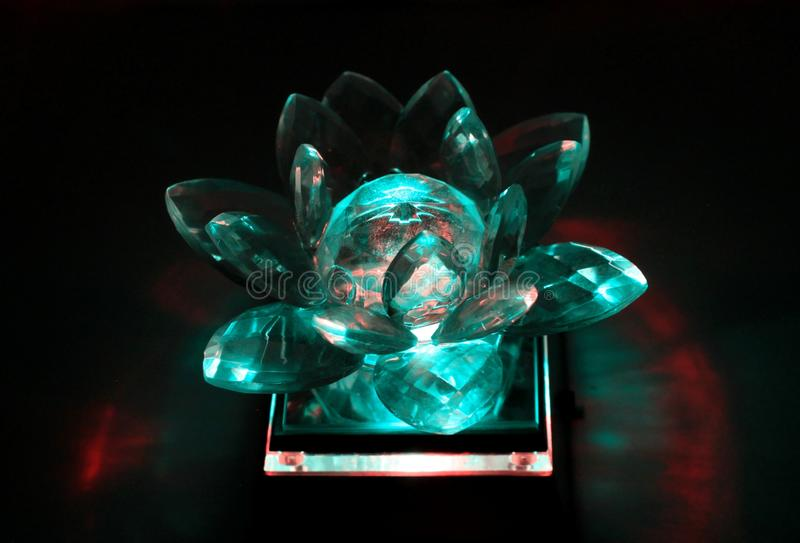 Crystal lotus flower stock images