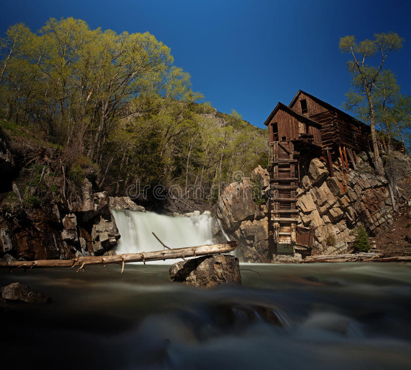 Crystal Mill in Colorado royalty-vrije stock foto's