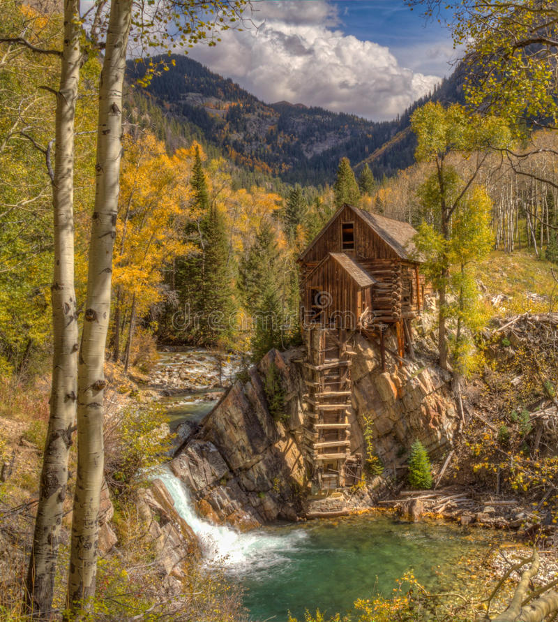 Crystal Mill, Crystal, Colorado royalty free stock photo
