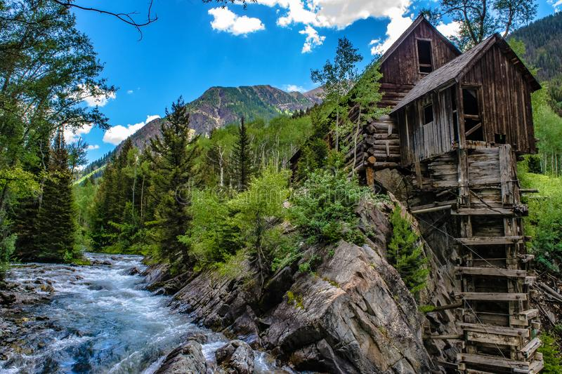 Crystal Mill in Marble, Colorado royalty free stock images