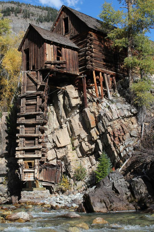 Crystal Mill, Colorado stock images
