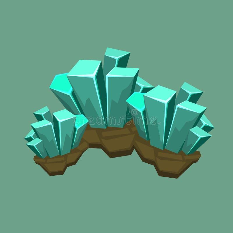 Crystal Mineral Illustration stock foto