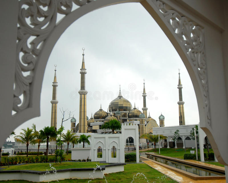 Crystal Mosque images stock