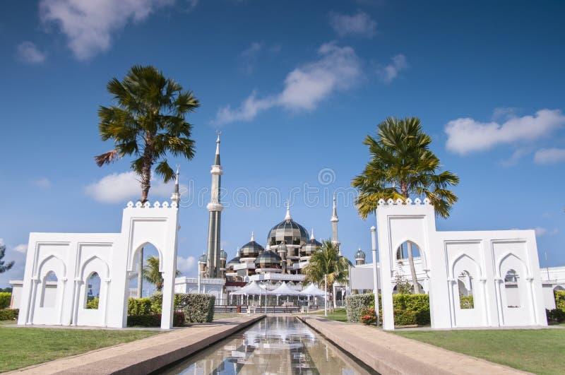 Crystal Mosque el día soleado imágenes de archivo libres de regalías