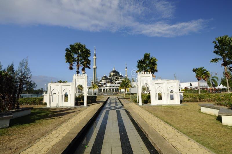 Crystal Mosque i Terengganu, Malaysia royaltyfri bild