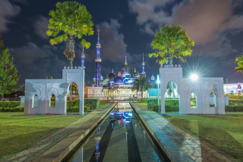 Crystal Mosque in Kuala Terengganu, Terengganu, Maleisië stock foto's