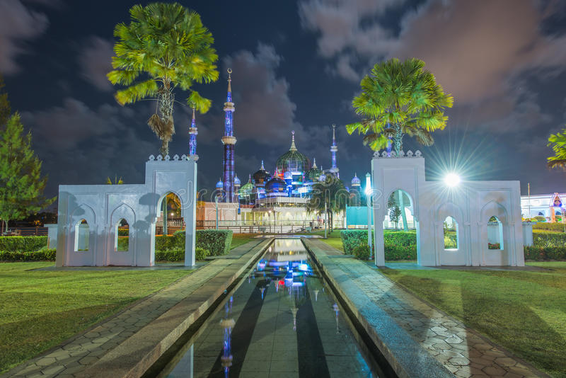 Crystal Mosque in Kuala Terengganu, Terengganu, Malesia fotografie stock
