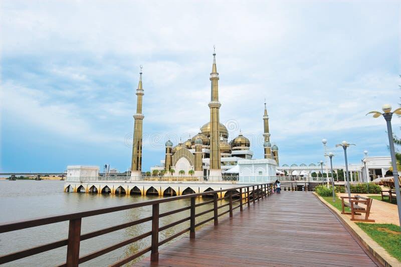 Crystal Mosque ou Masjid Kristal photographie stock libre de droits