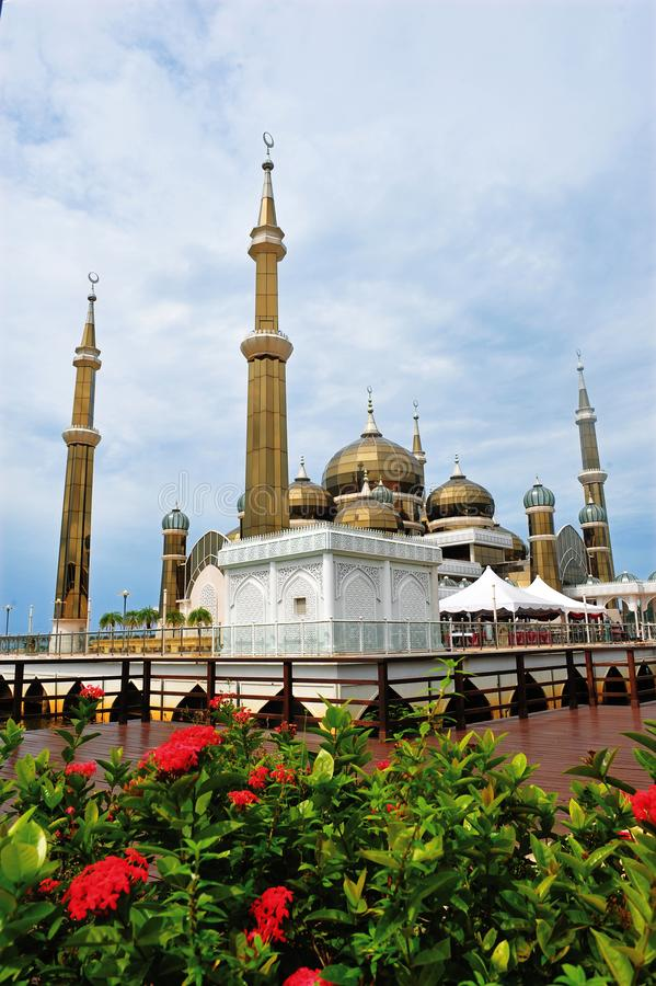 Crystal Mosque ou Masjid Kristal photo stock
