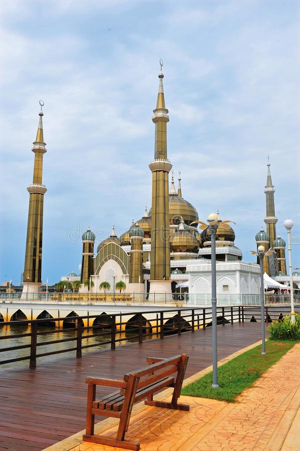 Crystal Mosque ou Masjid Kristal images libres de droits
