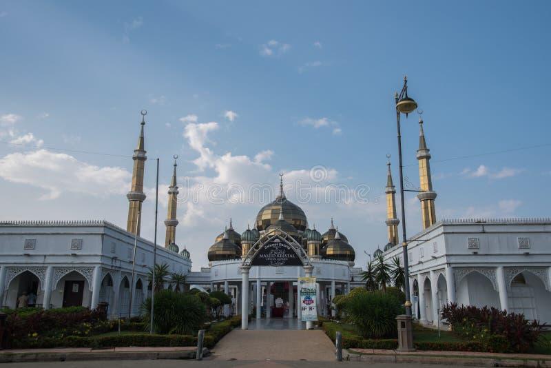 Crystal Mosque ou Masjid Kristal, Malaisie photographie stock libre de droits