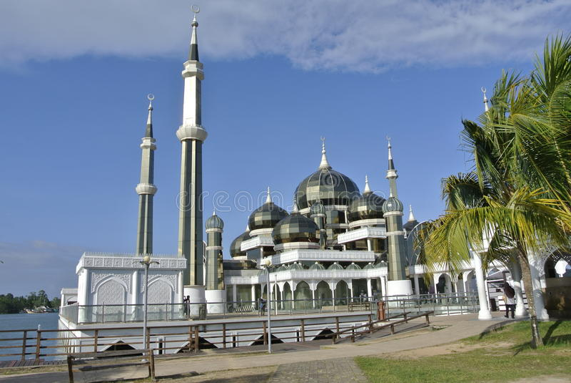 Crystal Mosque in Teregganu, Malaysia lizenzfreies stockfoto