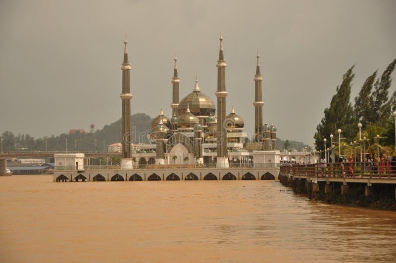 Crystal Mosque, Terengganu, Malaisie image stock