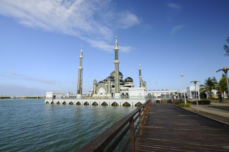 Crystal Mosque in Terengganu, Malaysia. TERENGGANU, MALAYSIA – MARCH, 2014: The Crystal Mosque or Masjid Kristal on March 27, 2014 at Kuala Terengganu royalty free stock photos