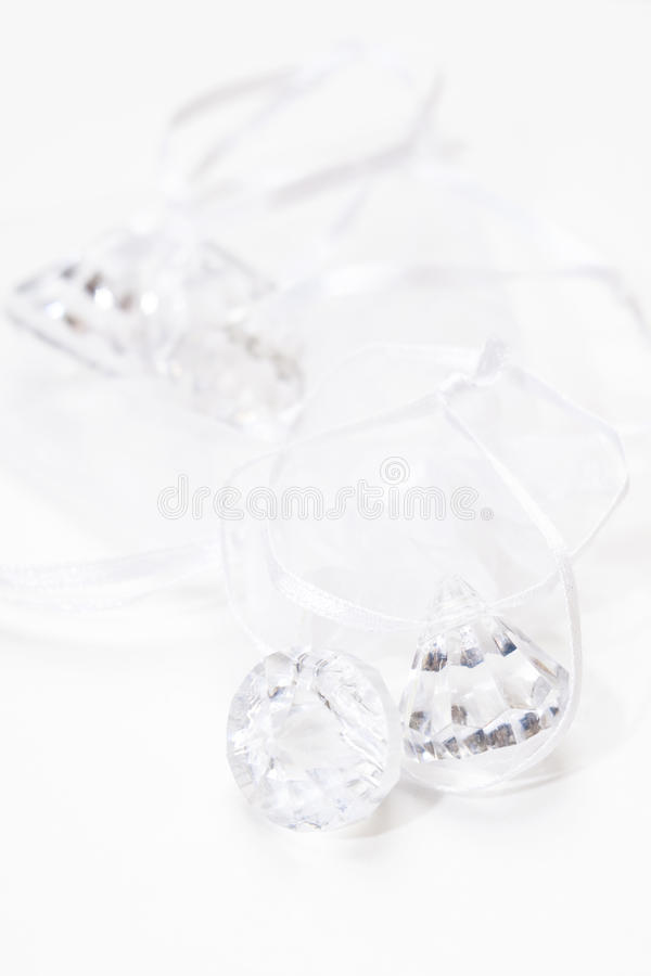 Crystal ornaments royalty free stock photo