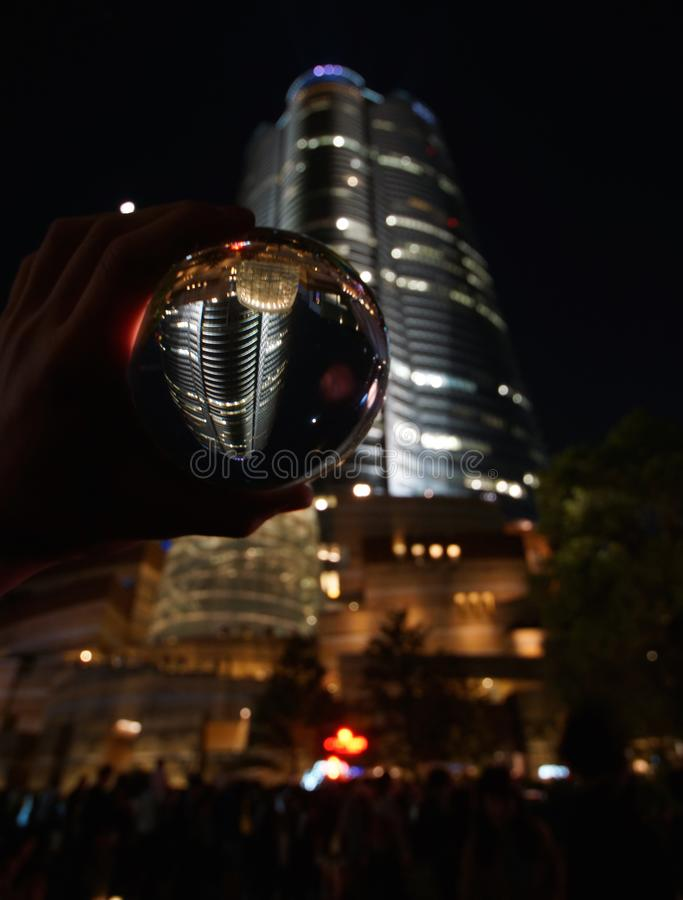 Of the crystal over Roppongi Hills royalty free stock photography