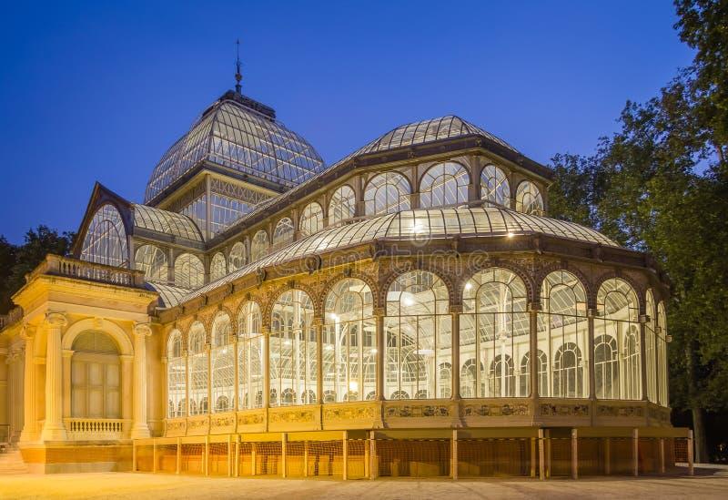 Crystal palace in Buen Retiro park, Madrid royalty free stock photo