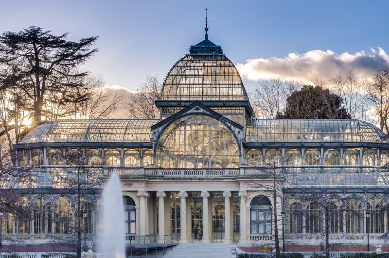Crystal Palace en el parque de Retiro en Madrid, España. fotografía de archivo libre de regalías