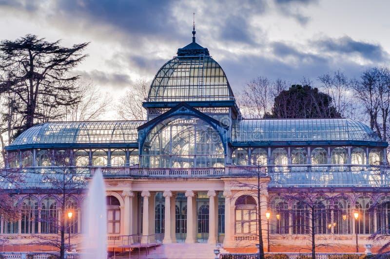 Crystal Palace en el parque de Retiro en Madrid, España fotografía de archivo