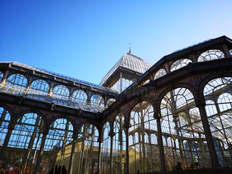 Crystal Palace, het Park Madrid, Spanje van DE Gr Retiro royalty-vrije stock afbeeldingen