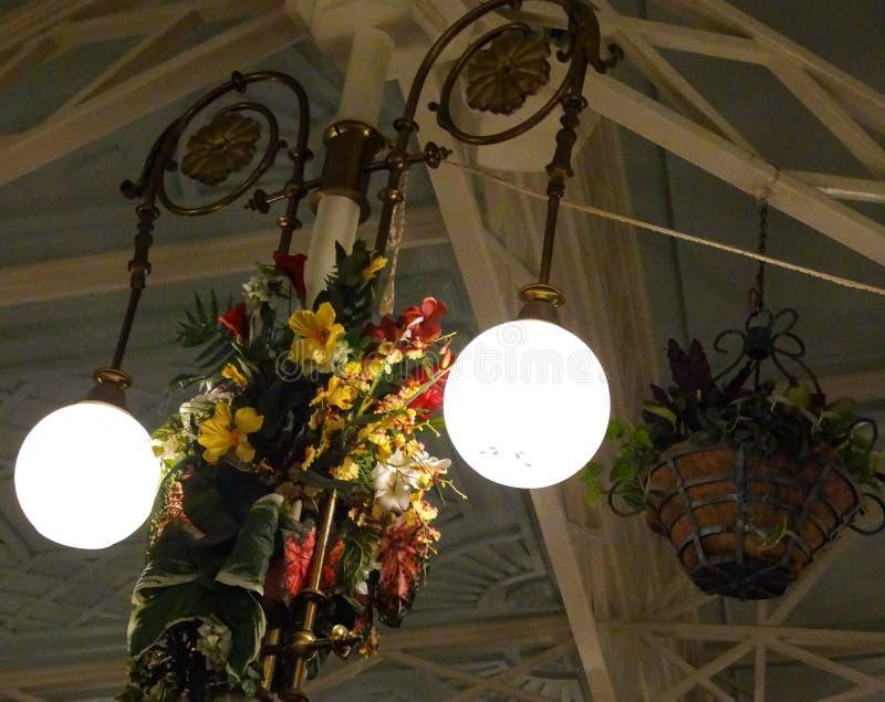 Crystal Palace Light Flower royaltyfri fotografi