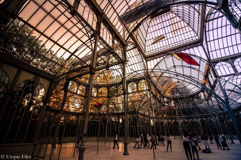 Crystal Palace a Madrid fotografie stock libere da diritti