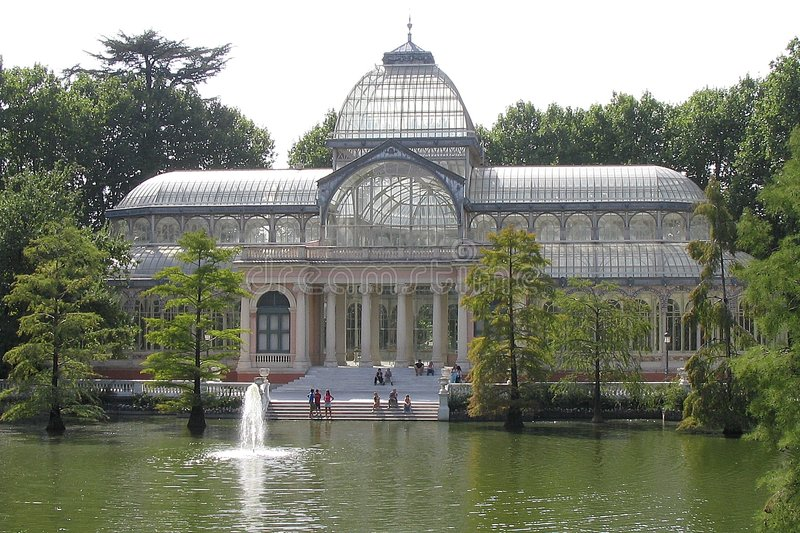 Crystal Palace - Madrid photographie stock libre de droits