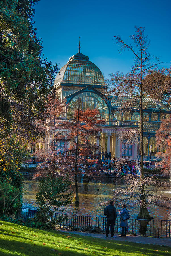 Crystal Palace Madrid photographie stock libre de droits