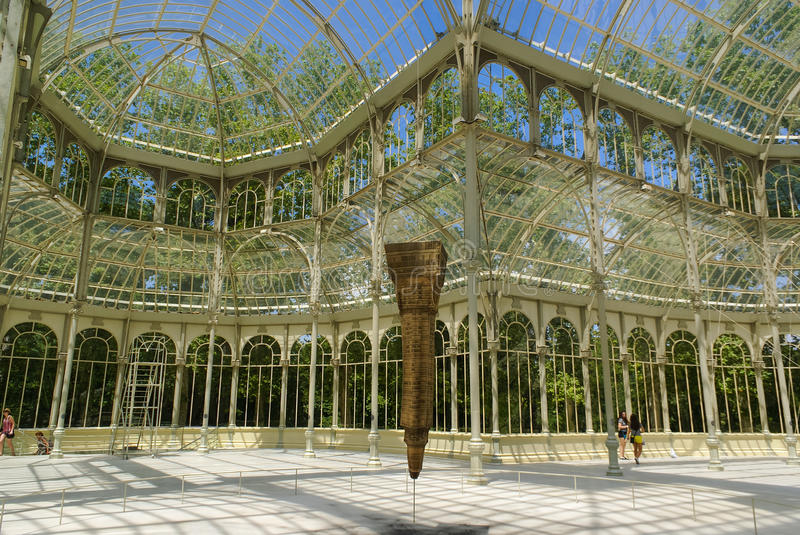 Download Crystal Palace in Madrid editorial image. Image of inside - 73980915