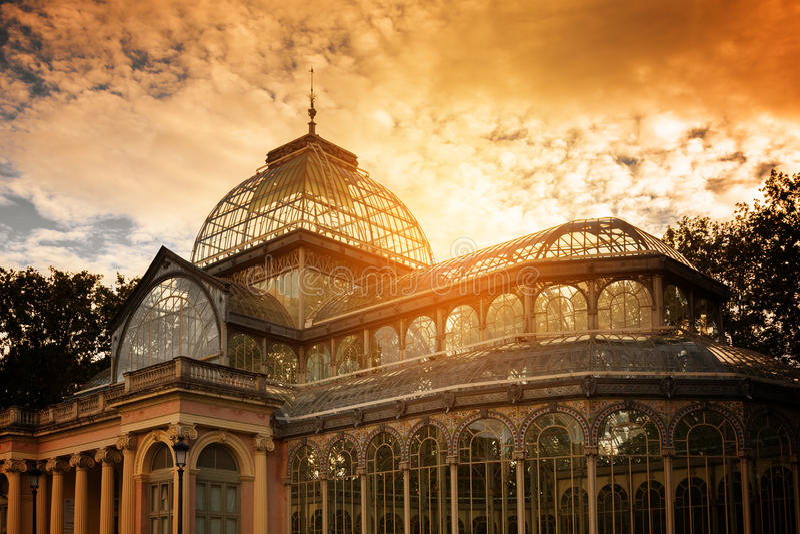 Crystal Palace, Madrid stock photo