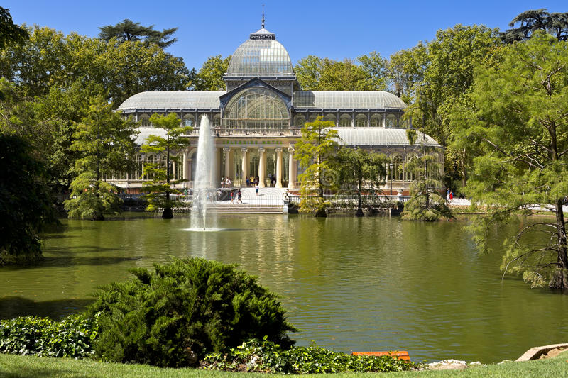 Crystal Palace (Palacio de cristal) in Retiro Park,Madrid, Spain. royalty free stock photos