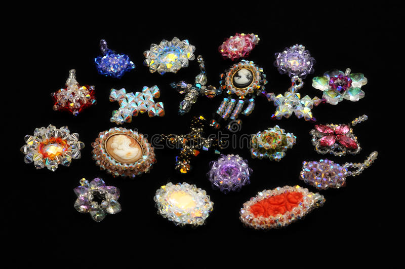 Download Crystal pendants stock image. Image of necklace, colorful - 25758377