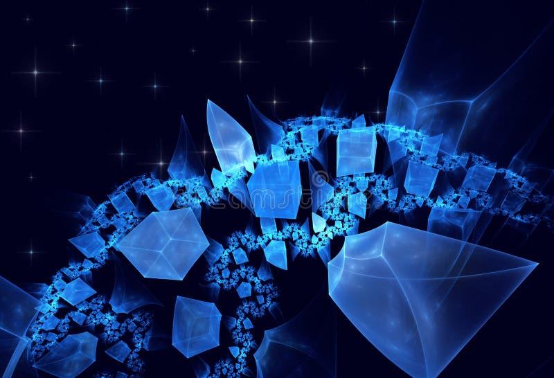 Crystal Planet som är srar royaltyfri foto