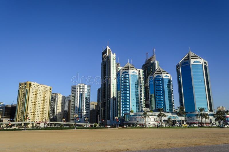 Crystal Plaza Sharjah UAE stock photos