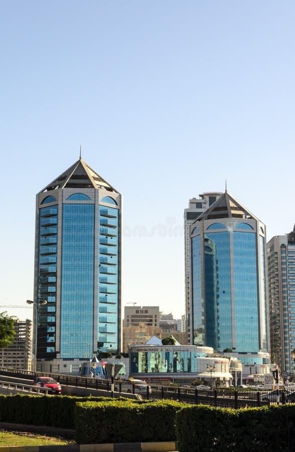 Crystal Plaza Sharjah UAE stock image