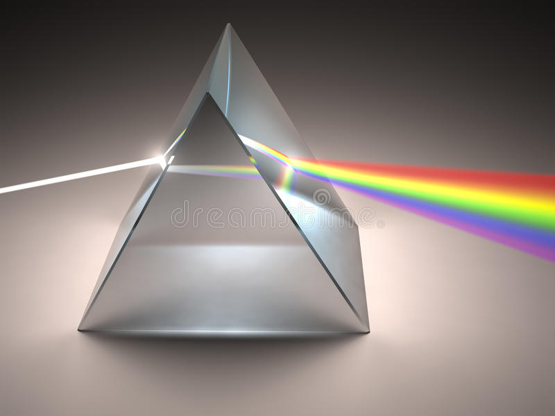 Crystal Prism. The crystal prism disperses white light into many colors