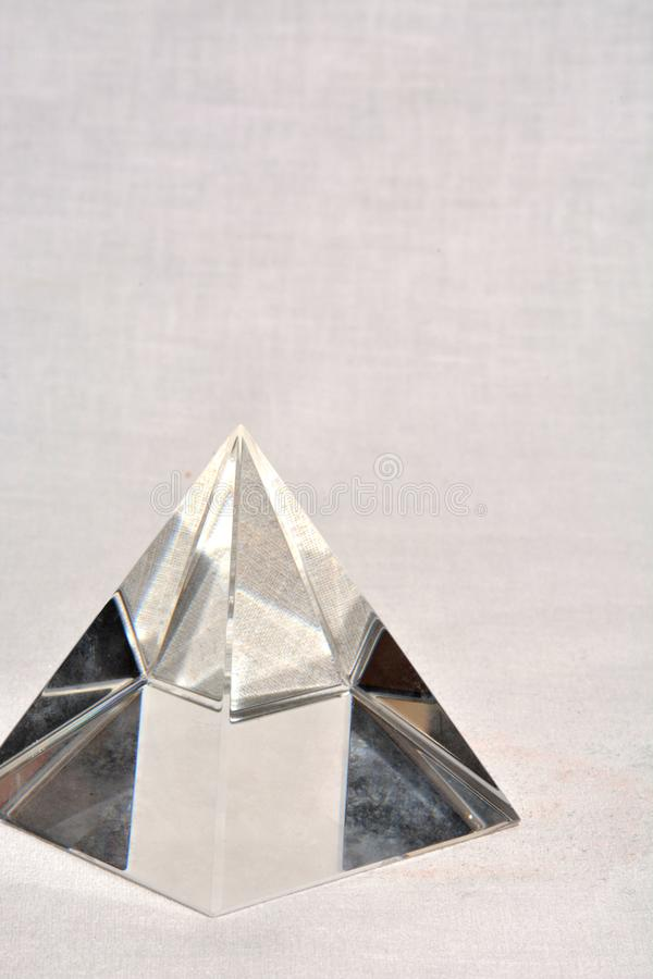 Crystal Pyramid royaltyfri foto