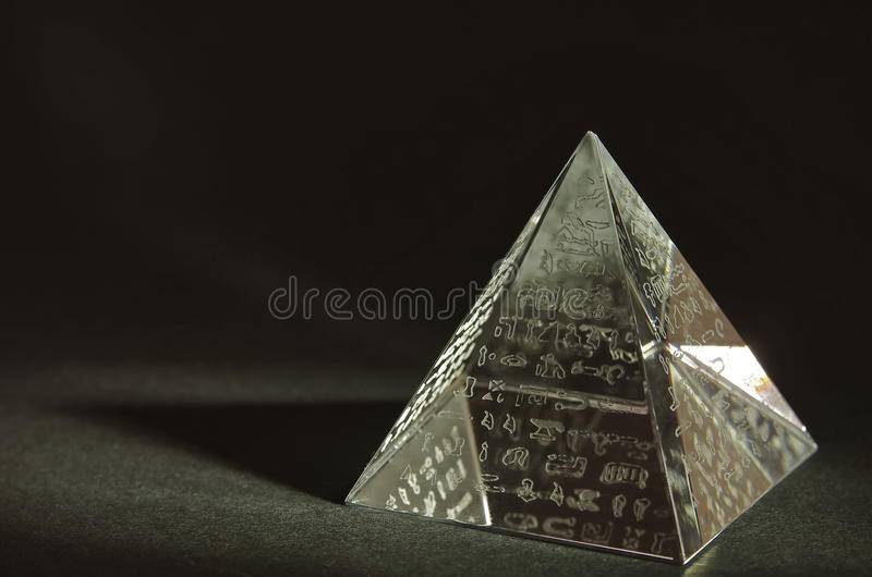 Crystal Pyramid fotografia de stock royalty free